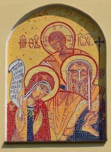 Mozaika ze Świętą Rodziną